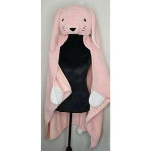 Pillowfort Hooded Wearable Pink Bunny Blanket